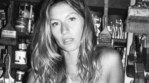 Gisele Bündchen, en blanco y negro y con la cara lavada, posa para Sonia Rykiel