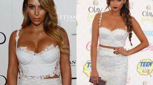 ¿Quién lo lleva mejor? Shay Mitchell luce en los TCA's el mismo look que Kim Kardashian en su cumpleaños
