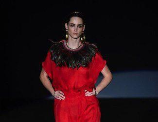 Los aires aztecas en la primavera/verano 2015 de Roberto Verino en Madrid Fashion Week