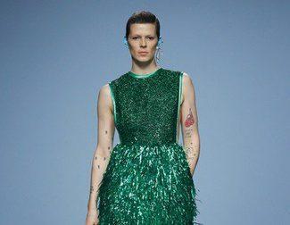 Davidelfín apuesta por el espumillón y las superposiciones para primavera/verano 2015 en Madrid Fashion Week