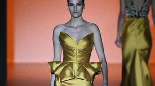 Hannibal Laguna apuesta por los colores del atardecer para primavera/verano 2015 en Madrid Fashion Week