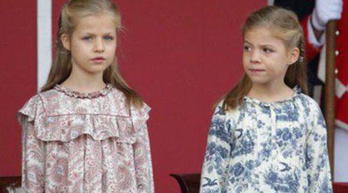La Princesa Leonor y la Infanta Sofía visten de Nanos en el Día de la Hispanidad