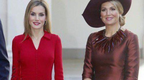Duelo de estilos: La Reina Letizia y la Reina Máxima no se ponen de acuerdo con el protocolo en Holanda