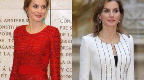 La Reina Letizia vuelve a confiar en los diseños de Felipe Varela para su visita a Italia