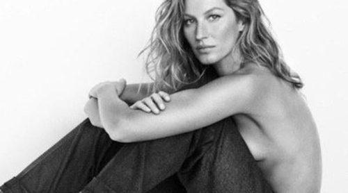 Gisele Bündchen posa de nuevo en topless para Stuart Weitzman