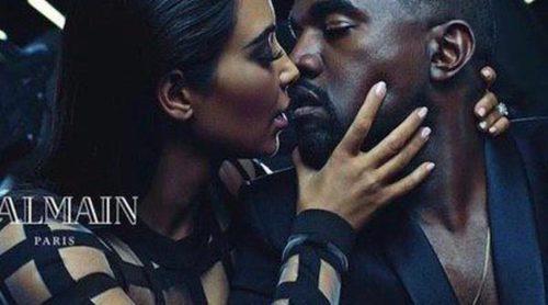 Kim Kardashian y Kanye West prestan su imagen a Balmain en su nueva colección
