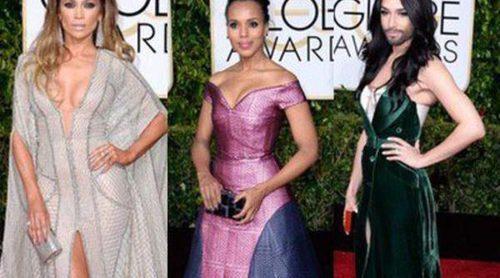 Jennifer Lopez, Kerry Washington y Conchita Wurst, entre las peor vestidas de los Globos de Oro 2015