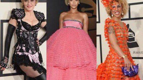 Madonna, Rihanna y Kim Kardashian, entre las peor vestidas de los Grammy 2015