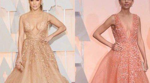 Jennifer Lopez y Luciana Duvall apuestan por diseños muy similares en la noche de los Oscar 2015