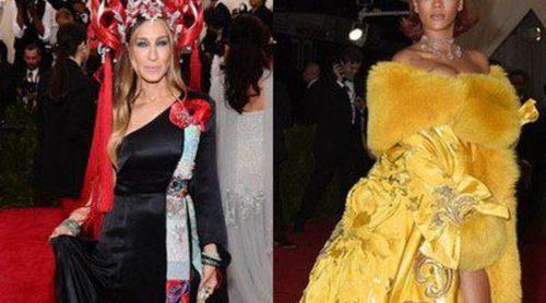 Rihanna, Sarah Jessica Parker y Karen Elson, las peor vestidas de la Gala del Met 2015