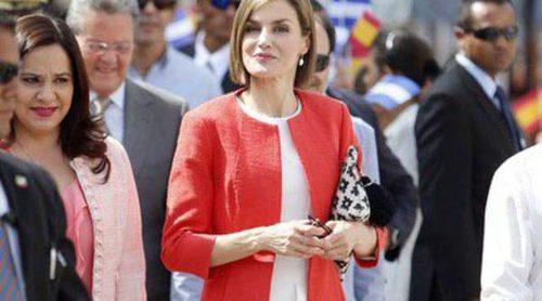 Hugo Boss, Mango y Felipe Varela acompañan a la Reina Letizia en su viaje a Honduras y El Salvador