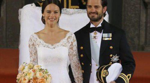 Sabor español en Suecia: la seda y el encaje de José María Ruiz decoran el vestido de Sofia Hellqvist