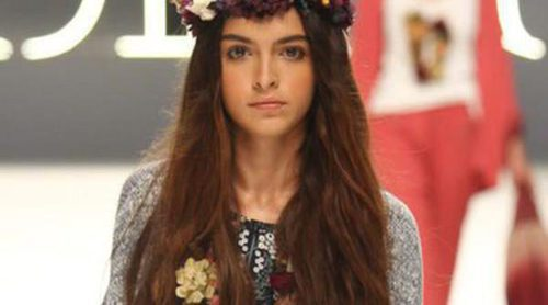 Lucía Rivera, hija de Blanca Romero, desfila para Yerse en la pasarela 080 Barcelona Fashion