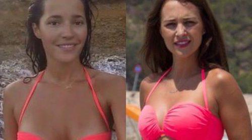 Duelo de look playero: Malena Costa y Paula Echevarría lucen el mismo bikini de Calzedonia