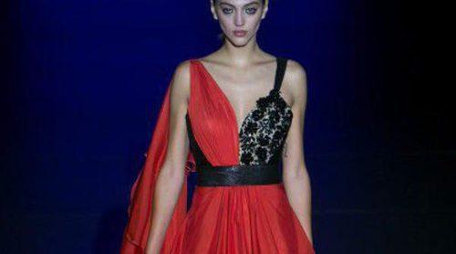 Hannibal Laguna rinde homenaje al azabache para la primavera/verano 2016 en Madrid Fashion Week