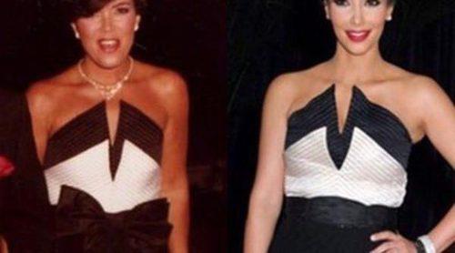 Kris Jenner, Kim Kardashian y un Valentino de los 80: ¿quién lo lucía mejor?