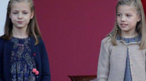 La Princesa Leonor y la Infanta Sofía repiten con Nanos para acertar en el Día de la Hispanidad 2015