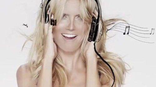 Heidi Klum, coqueta e infantil en la nueva campaña de su línea de lencería