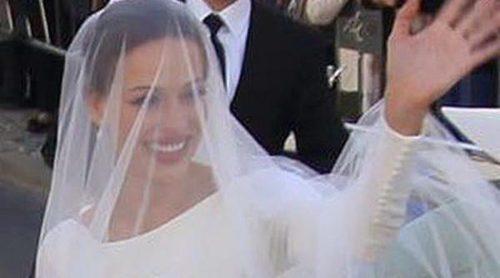 Eva González, una novia clásica con una espectacular espalda de Pronovias