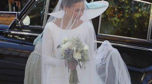 Arrebatadora espalda y brillante pedrería: Así era el segundo vestido de novia de Eva González
