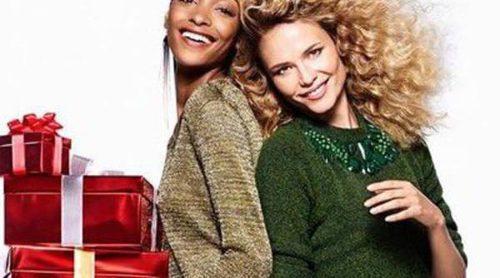 Jourdan Dunn y Natasha Poly lucen los looks de Navidad 2015 de H&M