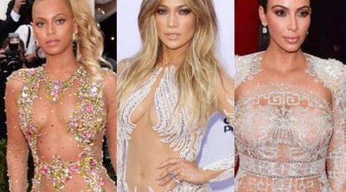 Beyoncé, Jennifer Lopez y Kim Kardashian: las otras Cristina Pedroche de las transparencias extremas