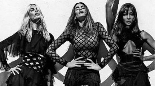 Balmain reúne a las supermodelos de los 90: Cindy Crawford, Naomi Campbell y Claudia Schiffer