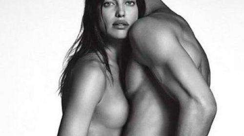 Irina Shayk se desnuda para promocionar la nueva línea denim de Givenchy
