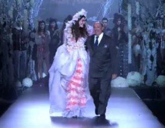 Diseños de cuento de hadas en el desfile de Francis Montesinos en la Fashion Week Madrid