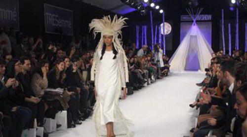 David Christian y sus indias americanas para su nueva colección 'Sioux' en la Madrid Fashion Show 2016