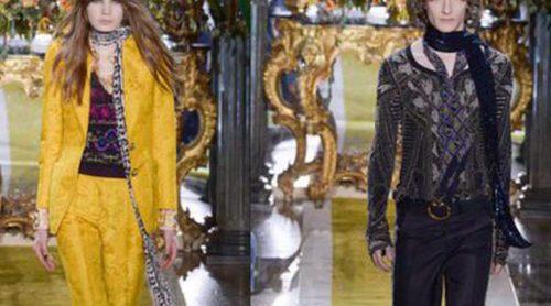 Roberto Cavalli mezcla ideas y estilos en una sola colección en la Fashion Week de Milán para otoño/invierno 2016/2017