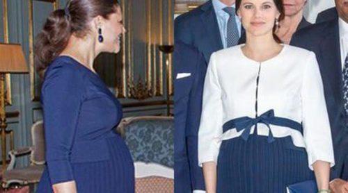 La Princesa Victoria de Suecia y Sofia Hellqvist comparten vestido premamá: ¿quién lo luce mejor?