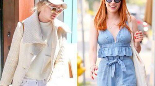 El conjunto serenity de Emma Roberts y la paleta de blancos de Gigi Hadid: Mejor vestidas de la semana