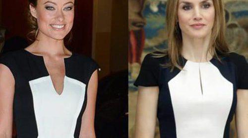 La Reina Letizia vs. Olivia Wilde se baten en un duelo textil bicolor ¿quién ganará?