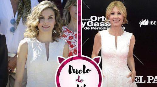 La Reina Letizia y Cayetana Guillén Cuervo lucen el mismo vestido de Carolina Herrera