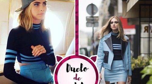 Chiara Ferragni y Cara Delevingne coinciden con el mismo jersey de Versace