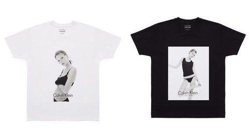 Calvin Klein escoge fotos de Kate Moss para lanzar una colección de camisetas solidarias