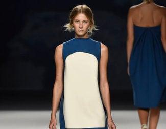 Blancos y azules urbanos en la colección primavera/verano 2017 de Devota & Lomba para Madrid Fashion Week