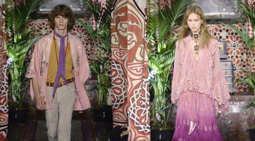 Roberto Cavalli sube a la Milán Fashion Week el estilo boho-chic en su primavera/verano 2017