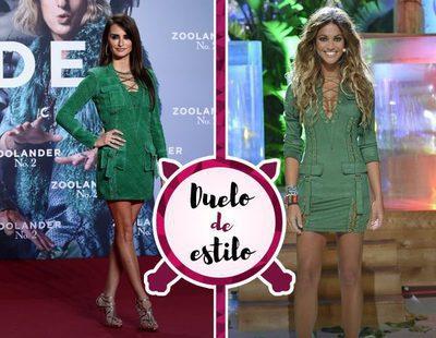 Penélope Cruz y Lara Álvarez con un vestido verde muy parecido. ¿Quién lo luce mejor?