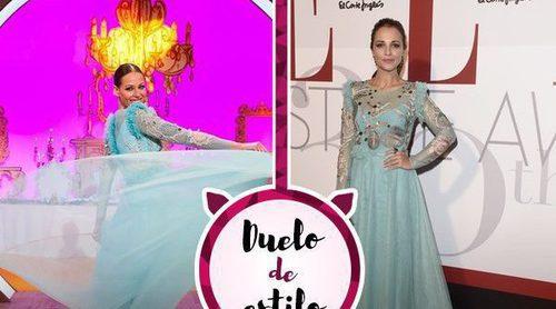 Eva González y Paula Echevarría escogen el mismo vestido de princesa de Jorge Vázquez