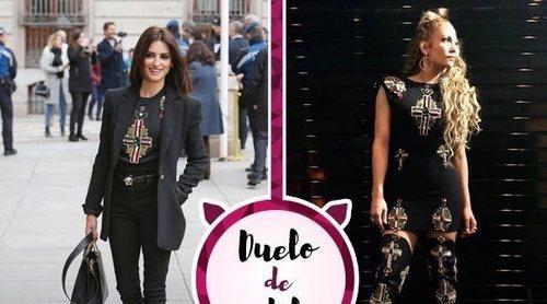 Penélope Cruz y Jennifer Lopez se enfrentan por un mismo look de Versace. ¿Quién lo luce mejor?