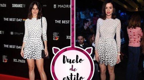 Macarena García y Dafne Fernández apuestan por un mismo María Escoté. ¿Quién lo luce mejor?