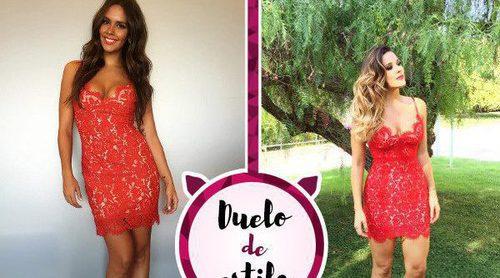 Cristina Pedroche y Lorena Gómez se decantan por el mismo vestido. ¿Quién lo ha lucido mejor?