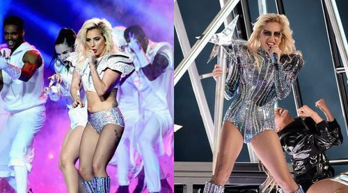 Los brillantes looks de Lady Gaga en la Super Bowl 2017