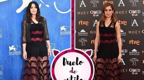 Hiba Abouk y Monica Bellucci se decantan por el mismo vestido, ¿quién lo luce mejor?