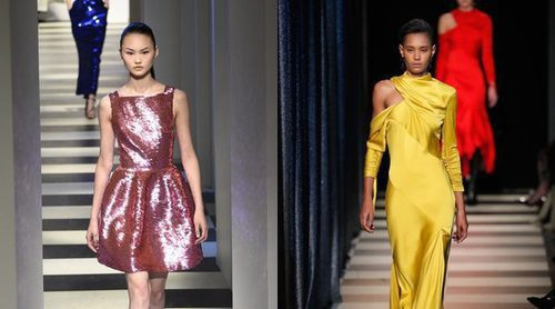 Oscar de la Renta sube a la New York Fashion Week looks femeninos a todo color con dos desfiles en uno