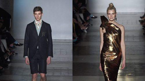 Roberto Verino apuesta por la estética ochentera para primavera/verano 2017 en la Madrid Fashion Week