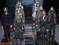 Ailanto recupera el chal en una colección versátil y elegante de otoño/invierno 2017/2018 en Madrid Fashion Week