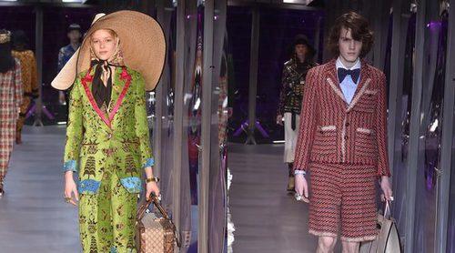 La variedad de looks inunda la Milán Fashion Week con el colorido desfile de Gucci